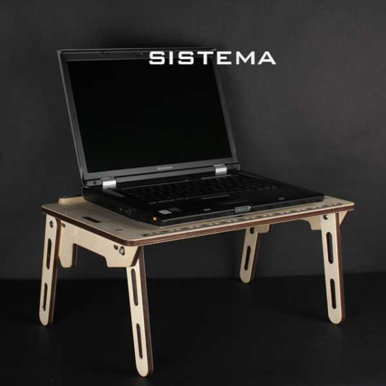 Porta pc in legno da scrivania porta pc da letto leggio semplice da usare - Porta pc da letto ...
