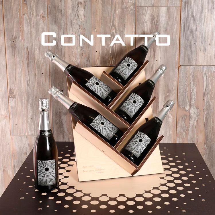 Porta bottiglie in legno da appoggiare sul mobile per cantine e ristoranti - Porta bottiglie ...